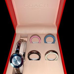 COACH NWOT Watch Stainless Steel Color Change Face